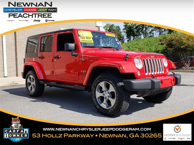 Certified Pre Owned 2018 Jeep Wrangler JK Unlimited Sahara